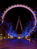 London Eye Illuminated at Night, London, England, United Kingdom, Europe Photographic Print by Michael Kelly