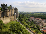Walled and Turreted Fortress of La Cite, Carcassonne, Languedoc Photographic Print by Peter Richardson