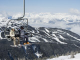 Chairlift with Skiers, Whistler Mountain Resort Photographic Print by Christian Kober