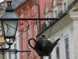 Traditional Sign Outside a Tea Shop in Ljubljana Old Town, Slovenia, Europe Photographie par John Woodworth