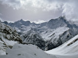 Machrapuchare from Annapurna Sanctuary, Nepal, Asia Photographic Print by Nigel Blythe