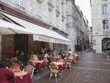 Terrace Seating at Restaurant in Place Saint-Pierre, Bordeaux, Gironde, France, Europe Photographic Print by Hazel Stuart