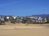 Maspalomas Dunes with Hotels in the Background, Gran Canaria, Canary Islands, Spain, Europe Photographic Print by Michael Kelly