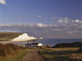 White Chalk Cliffs of the Seven Sisters, Seen from Seaford Head, Sussex Photographic Print by Nigel Blythe