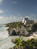 View to the North and El Castillo at the Mayan Ruins of Tulum, Quintana Roo Photographic Print by Richard Maschmeyer