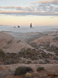 Balanced Rock on a Foggy Morning at Sunrise, Arches National Park, Utah Photographic Print by James Hager