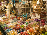 Christmas Decorations at Stall, Christkindlmarkt at Rathausplatz, Innere Stadt Photographic Print by Richard Nebesky