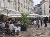 Cafes in Place De Parliament, Bordeaux, Gironde, France, Europe Photographic Print by Hazel Stuart
