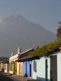 Colonial Buildings and Volcan De Agua, Antigua, Guatemala Photographic Print by Sergio Pitamitz