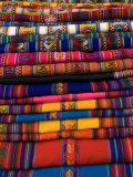 Textiles for Sale in the Market in the Village of Pisac, the Sacred Valley, Peru, South America Photographic Print by Richard Maschmeyer
