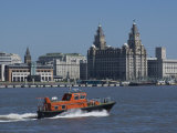 View of the Liverpool Skyline and the Liver Building, Taken from the Mersey Ferry Photographic Print by Ethel Davies