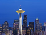 Downtown Buildings and the Space Needle, Seattle, Washington State Photographic Print by Christian Kober