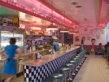 The 66 Diner Along Historic Route 66, Albuquerque, New Mexico Fotografie-Druck von Michael DeFreitas