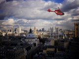 London Air Ambulance over Westminster, London, England, United Kingdom, Europe Photographic Print by  Purcell-Holmes