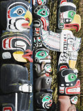 First Nation Totem Poles in Stanley Park, Vancouver, British Columbia, Canada, North America Photographic Print by Christian Kober