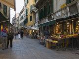 Green Grocers Shop in Calle Dei Boteri, San Polo, Venice, Veneto, Italy, Europe Photographic Print by Hazel Stuart