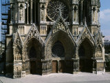 Western Facade, Notre Dame Cathedral, Reims, France Photographic Print