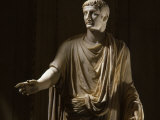 Tiberius 42 BC -37 AD, Second Roman Emperor, Marble Statue from the Vatican Collection Photographic Print