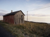 Weathered Barn on Coast, Lofoten Islands, Norway, Scandinavia, Europe Photographic Print by  Purcell-Holmes