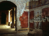 Interior court of Roman villa on Mount Coressos, Ephesus, Turkey Photographic Print