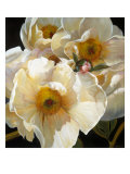 Chinese Peonies Trio Prints by Elizabeth Horning