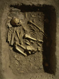 Neanderthal Tomb Burial, from La Chapelle aux Saints, France, 120,000-35,000 BC Fotografie-Druck