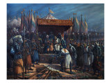 Richard the Lionheart, 1157-99 King of England, Surrendering to Saladin Giclee Print by  Tahssin