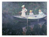 Boat the 'Norvegienne' at Giverny, France, c. 1887 Giclee Print by Claude Monet