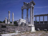Acropolis, Temple of Trajan, Built under his son Hadrian, 117-138 AD, Pergamum, Turkey Photographic Print