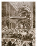 Inauguration in 1851 of Great Exhibition by Victoria, Queen of England, Crystal Palace, London Giclee Print