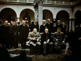 Big Three Conference, Yalta, February 1945, Photograph Photographic Print