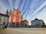 Church of the Annunciation, Preseren Square, Ljubljana, Slovenia, Europe Photographic Print by Guy Edwardes