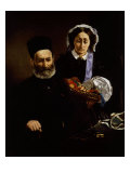 Auguste Manet, 1797-1862, and Wife Eugenie-Desiree Fournier Giclee Print by Edouard Manet