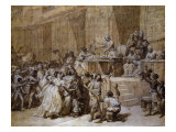 Proclamation at Convention in Paris of Abolition of Slavery Giclee Print by Nicolas Andre Monsiau