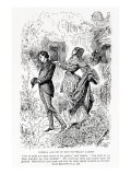 Estella and Pip in Miss Havisham's Garden, Illustration from Great Expectations Giclee Print by Harry Furniss