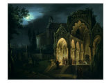 Death of Romeo and Juliet in Moonlit Landscape Giclee Print by Lorenzo Scarabellotto