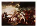 Death of Captain James Cook at Kealakekua Bay, Hawaii, in 1779 Giclee Print by John Cleveley the Younger