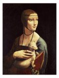 Cecilia Gallerani, Mistress of Ludovico Sforza, Portrait Known as Lady with the Ermine, c. 1490 Reproduction procédé giclée