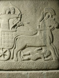 King Striking Down Enemies from his Chariot, Relief, 10th-8th century BC Photographic Print