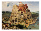 The Tower of Babel, 1563 Reproduction proc&#233;d&#233; gicl&#233;e par Pieter Brueghel