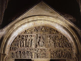 The Last Judgement, 12th century, Abbey Church of Saint Foy, Aveyron, France Photographic Print