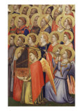 The Coronation of the Virgin, Altarpiece, Detail of Angels, Saints, Bishops Giclee Print by  Giotto di Bondone