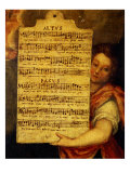 Music Score from Magnificat for 4 Voices, Composed by Cornelius Verdonck 1563-1625 Giclée-Druck von Martin de Vos