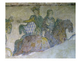 Eleanor of Aquitaine and Isabella of Angoul Led into Captivity by Eleanor's Husband Henry II Giclee Print
