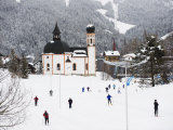 Cross Country Skiing, Seefeld Ski Resort, the Tyrol, Austria, Europe Photographic Print by Christian Kober