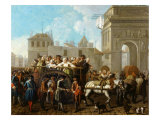 Transporting Prostitutes to Saltpetriere Prison, Paris, France, 1757 Giclee Print by Etienne Jeaurat