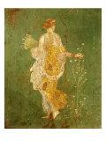 Goddess Flora, or Spring, Roman, Fresco, from Villa di Arianna Giclee Print
