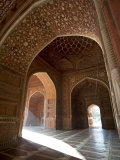 Interior of Red Sandstone Mosque at the Taj Mahal, Agra, Uttar Pradesh Photographic Print by Annie Owen