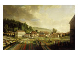 French Royal Textile Factory, Jouy-en-Josas, France, 1806 Giclee Print by Jean-Baptiste Huet