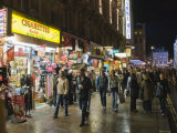 Tourist Shops on Charing Cross Road at Night, London, England, United Kingdom, Europe Photographic Print by Hazel Stuart